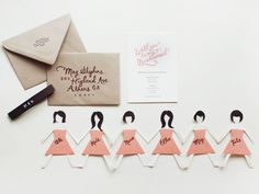 Adorable DIY bridesmaid invites