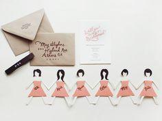 Adorable DIY bridesmaid invites