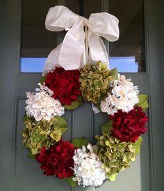 Christmas Hydrangea Wreath Tutorial
