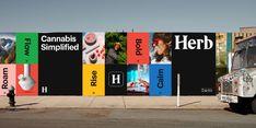 Herb Branding on Behance Page Layout Design, Web Design, Logo Design, Sistema Visual, Hoarding Design, Banner Design Inspiration, Billboard Design, Design System, Brand Identity Design