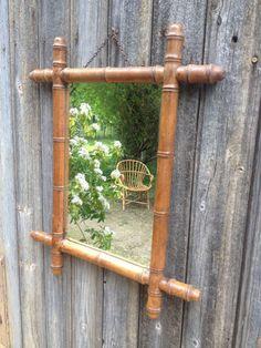 French vintage old mirror centres wooden by VINTAGEorangeBAZAR