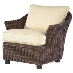Woodard Sonoma Patio Chair with Cushions Fabric: Brisa Distressed Chamois