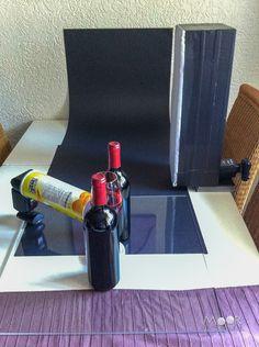 Flessen wijn en DIY Striplights - Moor Fotografie
