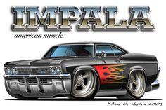Get terrific suggestions on muscle cars. They are on call for you on our website. Rat Fink, Weird Cars, Cool Cars, 65 Chevy Impala, Caricature, Cartoon Car Drawing, Cartoon Art, Cool Car Drawings, Chevy Muscle Cars