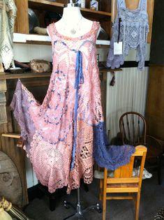 Luv Lucy Crochet Dress  Arizona Sunset  Boho by LuvLucyArtToWear