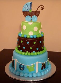 Boy baby shower cake , love it but change blue to pink for a girl