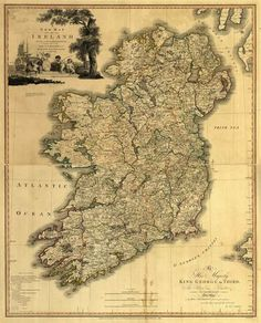 A map of Ireland printed in 1797