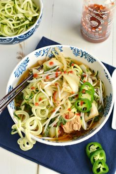 Paleo Chicken Zoodle Pho Recipe plus 49 more Paleo soup recipes on… Healthy Crockpot Recipes, Slow Cooker Recipes, Paleo Recipes, Real Food Recipes, Soup Recipes, Dinner Recipes, Cooking Recipes, Crockpot Meals, Cooking Ideas