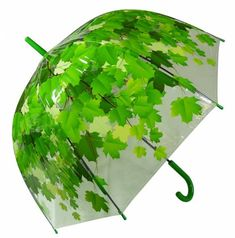 Green leaves umbrella - ready for Spring showers Cat Umbrella, Folding Umbrella, Under My Umbrella, Umbrella Tattoo, Dome Umbrella, Rain Go Away, Brollies, Umbrellas Parasols, Singing In The Rain