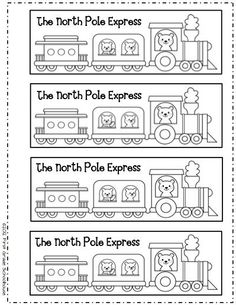 Bookmarks for the Polar Express by First Grade Schoolhouse. FREE!!! download.