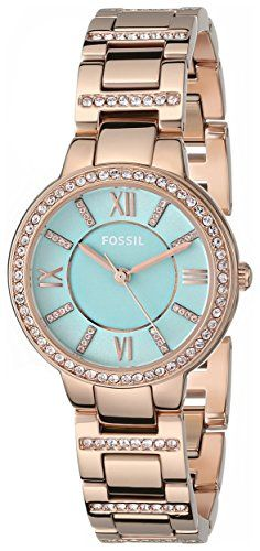 Fossil Women's ES3652 Virginia Analog Display Analog Quartz Rose Gold Watch Fossil http://www.amazon.com/dp/B00LO931U2/ref=cm_sw_r_pi_dp_fLsrub0AK6TV7