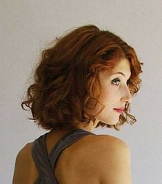 Medium Curly Bob Hairstyle Bob haircut for women with