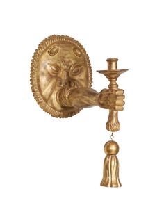 Unusual Carved Giltwood Sconce