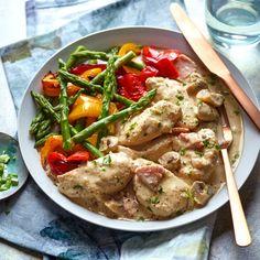 Easy chicken recipe – Slimming World Chicken supreme Chicken Recipes For Kids, Healthy Chicken Recipes, Healthy Food, Diet Recipes, Family Recipes, Family Meals, Soup Recipes, 21 Day Fix, Slimming World Chicken Supreme