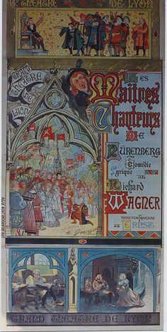 1 Affiche Maîtres Chanteurs (Les), Wagner R. [1867] BEAUSSIER BORDEAUX. Vendue aux #encheres le 27 Juin 2014 par ADER, SVV à Paris #Art #Peinture