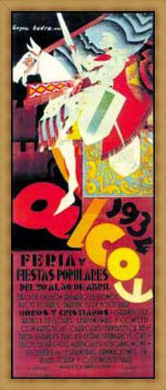 Cartel de fiestas de Alcoy del año 1934 Autor Lopez Badia