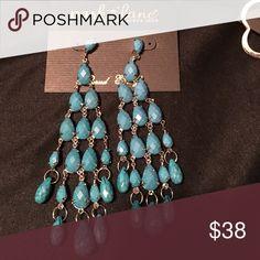 """Park Lane earrings Park lane Jewelry earrings Park Lane """"DESERT RAIN"""" EARRINGS - Blue Shoulder Length - Orig $81 - Pretty NWOT Park Lane Jewelry Earrings"""