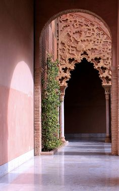 I should think I would like to go through nearly every doorway there is in Morocco! Moroccan Design, Moroccan Decor, Moroccan Style, Islamic Architecture, Art And Architecture, Architecture Details, Style Marocain, Wallpaper Wall, Home Modern