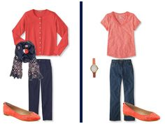 A Common Wardrobe Variation, in Navy & Coral | The Vivienne Files