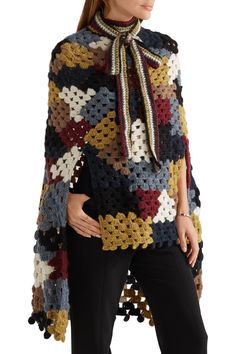Shop on-sale Rosetta Getty Crocheted alpaca-blend poncho. Browse other discount designer Knitwear & more on The Most Fashionable Fashion Outlet, THE OUTNET. Moda Crochet, Crochet Shawl, Crochet Capas, Knitted Cape, Rosetta Getty, Chunky Wool, Discount Designer Clothes, Cool Sweaters, Fashion Outlet