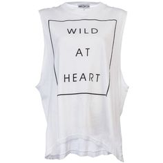 Wildfox Wild at heart tank ($58) ❤ liked on Polyvore