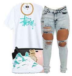 """""""Stussy"""" by polyvoreitems5 ❤ liked on Polyvore featuring Michael Kors, NIKE and Forever 21"""