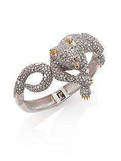 Alexis Bittar Elements Moonlight Crystal Lounging Panther Bracelet