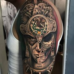 101 Amazing Tattoo Designs You Need To See! Aztec Tattoos Sleeve, Half Sleeve Tattoos For Guys, Cool Tattoos For Guys, Tribal Tattoos, Hand Tattoos, Aztec Tattoo Designs, Armband Tattoo Design, Skull Tattoo Design, Tattoo Design Drawings