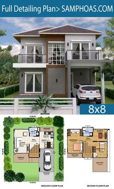 3 Bedrooms Home Plan This villa is modeling by SAM-ARCHITECT With 2 stories level. 3 Bedrooms House description: The House has 1 Cars Parking and garden Ground Level: -Living room -Dining room -Kitchen and Bar Contemporary House Plans, Modern House Plans, Small House Plans, The Plan, How To Plan, Home Design Floor Plans, Dream Home Design, Simple House Design, Modern House Design
