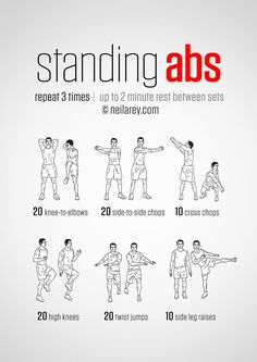 Standing ab exercises workout