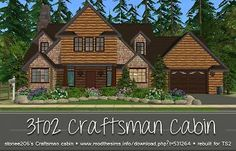 Mod The Sims - UPDATE!! Craftsman Cabin (TS2 Version of stonee206's TS3 lot)
