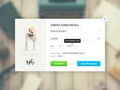 Hi Dribbblers,  This is exercises of days 2 : Credit Card Checkout. Font : Google Fonts Montserrat Font Icon : Font Awesome Image : Unsplash & http://www.cocorrina.com/  Enjoy it !