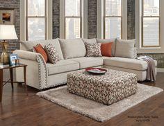 Washington Furniture 1850 - Patton Beige Sectional