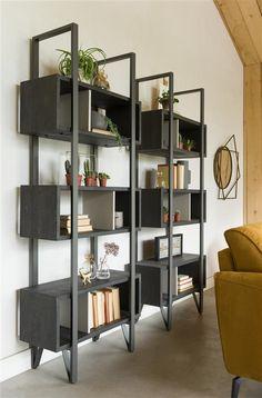 Home Library Decor, Home Decor, Interior Garden, Interior Design, Villa, Library Shelves, Industrial, Home Board, Structure Metal