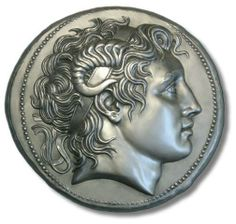 Alexander of Macedonia in a tetradrachm of Lisímaco of Thrace. About 297-281 B.C.