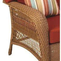 Martha Stewart Living Charlottetown Natural All Weather Wicker Patio  Loveseat With Quarry Red Cushion 65 909556/3 At The Home Depot | Patio |  Pinterest ...