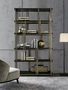 bookshelf design Massimiliano Raggi for Casamilano collection, proposed in the new finishes. Furniture, Shelves, Large Furniture, Interior, Luxury Furniture, Home Decor, Interior Design, Furniture Design, Shelving