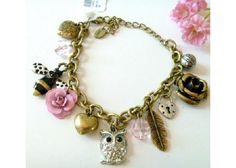 Owl Charm Bracelet - new with tags from Claires Store $10.99
