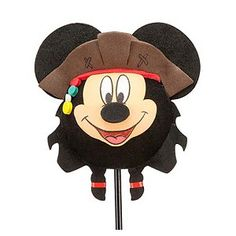 Disney Antenna Topper - Pirate Mickey Mouse - Jack Sparrow