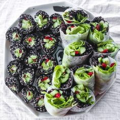 First batch of black rice sushi and rice paper rolls for lunch ��...