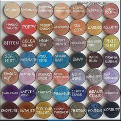 Makeup Geek Eyeshadows  Beautybreeze_sv  ~ on Instagram