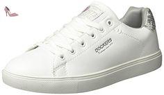 Dockers by Gerli 38pd205-610502, Sneakers Basses Femme, Blanc (Weiss/Grau 502), 37 EU - Chaussures dockers by gerli (*Partner-Link)