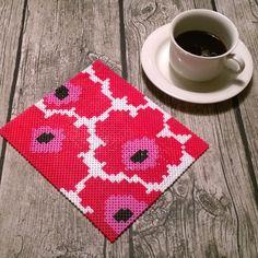 Marimekko coaster hama beads by Elin Nyberg