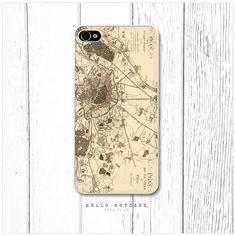 iPhone 4 Vintage Paris Map