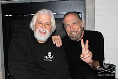 Actor, Executive Producer and Businessman John Paul DeJoira has been a huge support of Paul Watson and the Sea Shepherd Conservation Society since 1998. Recently SSCS rechristened its ex-Coast Guard Cutter the M/V John Paul DeJoira in Miami. The DeJoria's maiden voyage will include anti-poaching work off Malpelo Island, Cocos Island and the Galapagos off Central America.