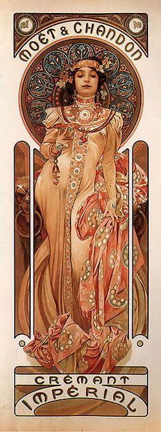 1899 Moët & Chandon Crémant Impérial. Alphonse Mucha