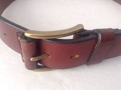 Wilsons Mens Brown Genuine Italian Leather Belt  Size 32 #Wilsons