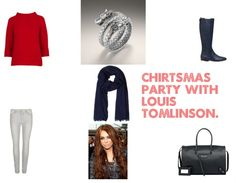 """""""Christmas Party with Louis Tomlinson."""" by hai-imm-a-hipsterr on Polyvore"""