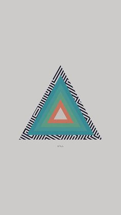 TYCHO TRIANGLE ABSTRACT ART ILLUSTRATION WHITE WALLPAPER HD IPHONE