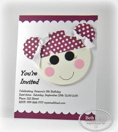 Lalaloopsy Punch Art Birthday Invitation by Mylittlecraftblog - Cards and Paper Crafts at Splitcoaststampers